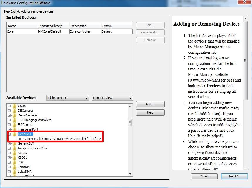 OpenPolScope: Matlab Configuration